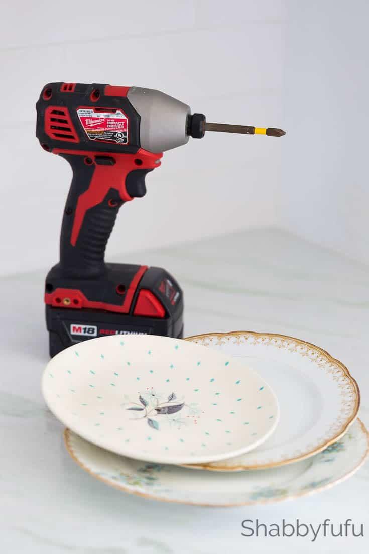 plate stand diy shabbyfufu drill