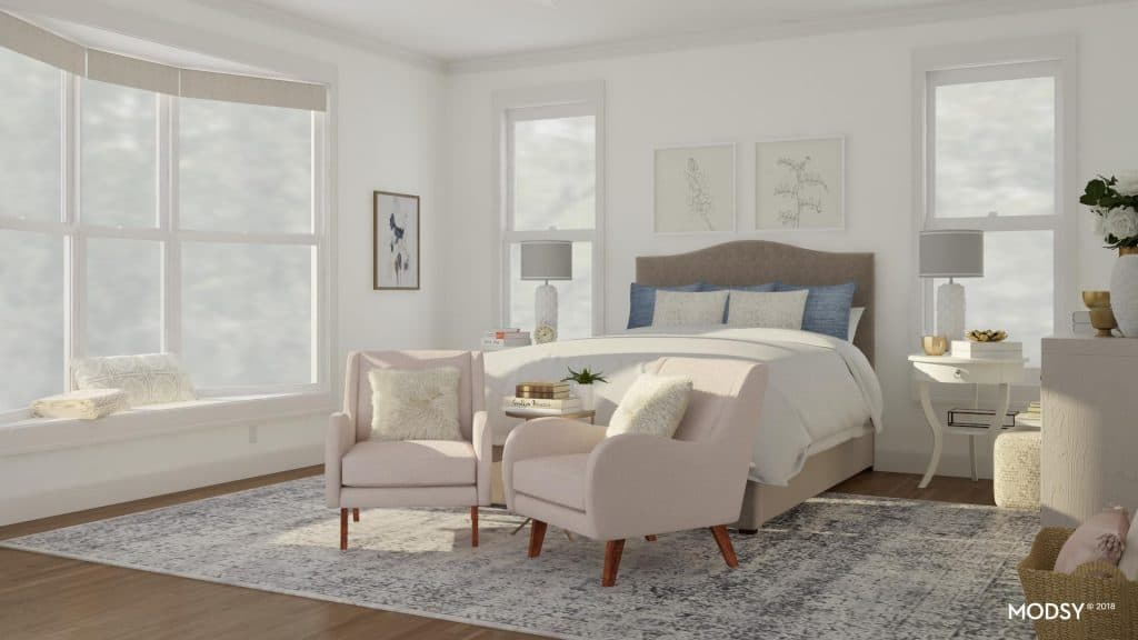 virtual room design modern vintage vibe