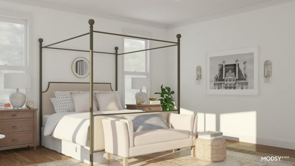 virtual room design modern canopy bed