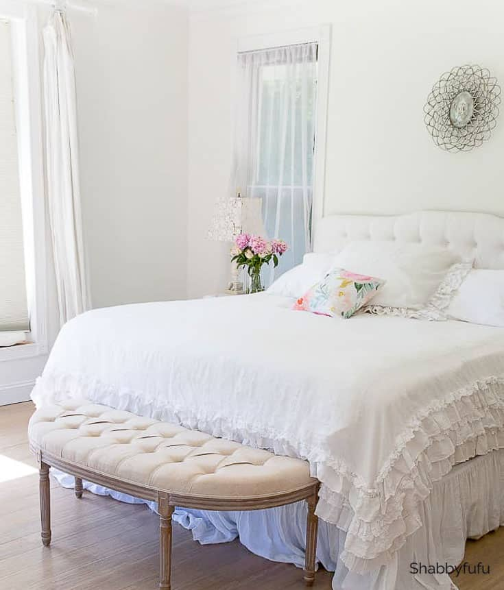 virtual room design white bed