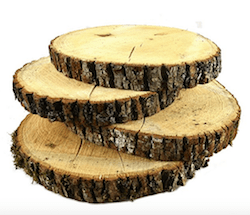 wood slices for centerpieces