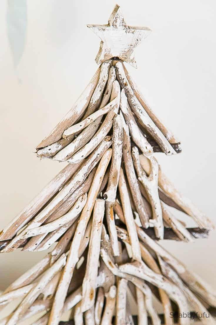 Driftwood Projects Coastal Diy Christmas Tree Shabbyfufu Com