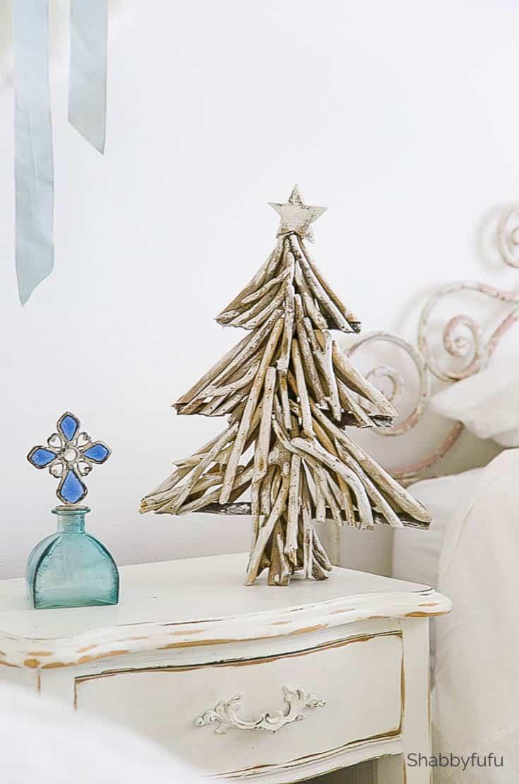 driftwood projects coastal diy - beach christmas tree