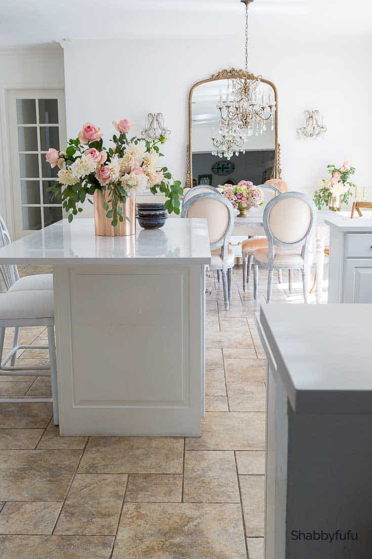 fall home decorating ideas in a white kitchen