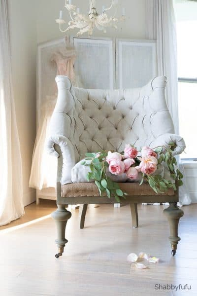 how to tackle a bedroom makeover - soft surroundings fontaine chair