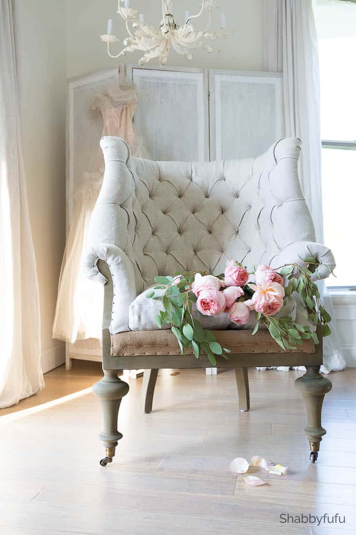 how to tackle a bedroom makeover french tufted romantic chair