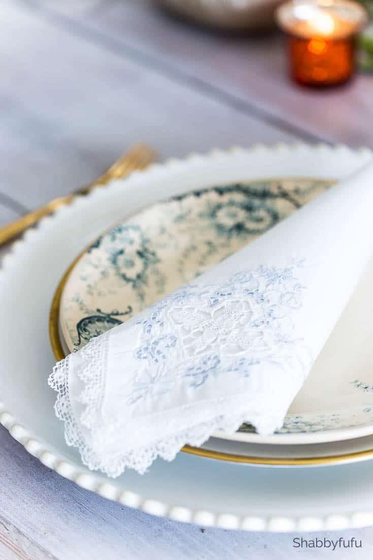 french ironstone blue floral dishes