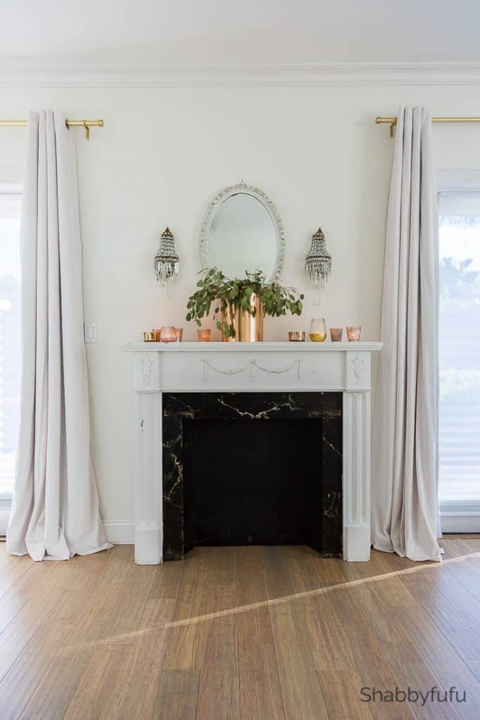 fall fireplace mantel master bedroom makeover tips