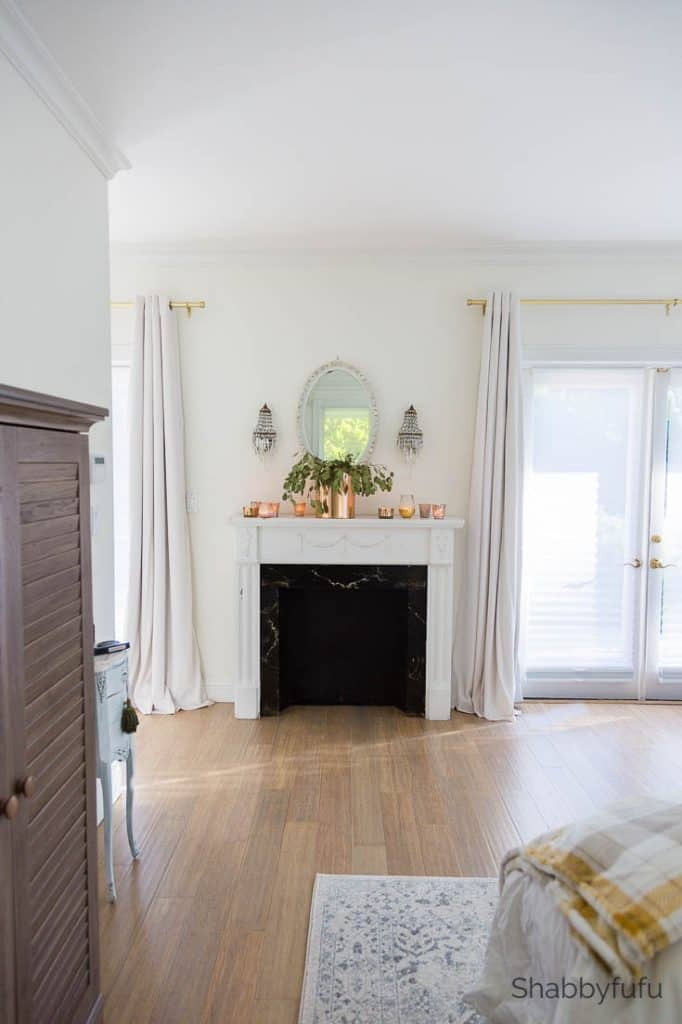 master bedroom makeover tips fireplace mantel