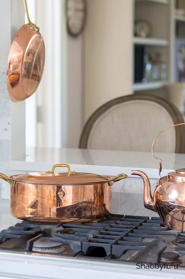 French copper pots and pans
