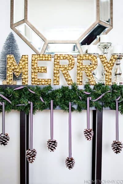 merry christmas diy sign
