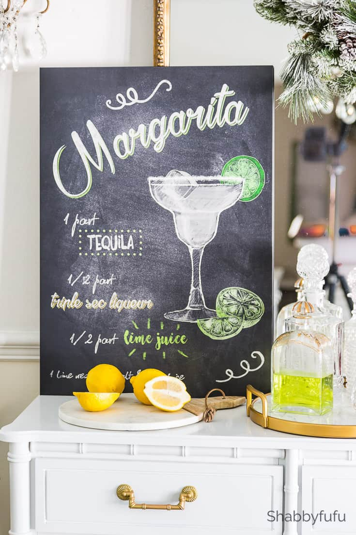 small dining spaces cocktail signs