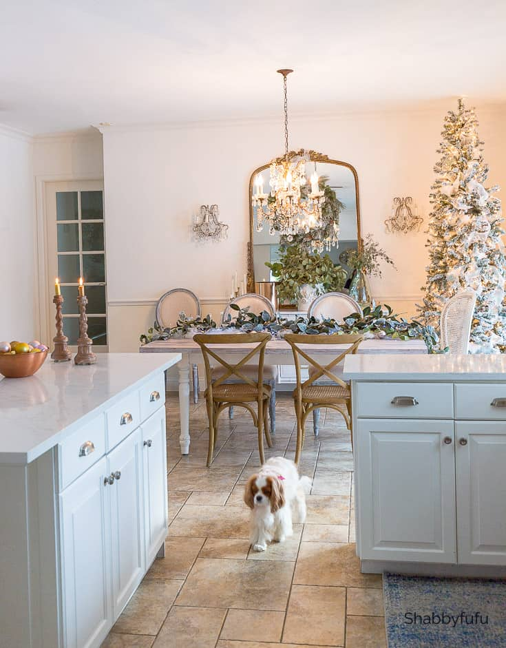 Farmhouse kitchens dressed for Christmas