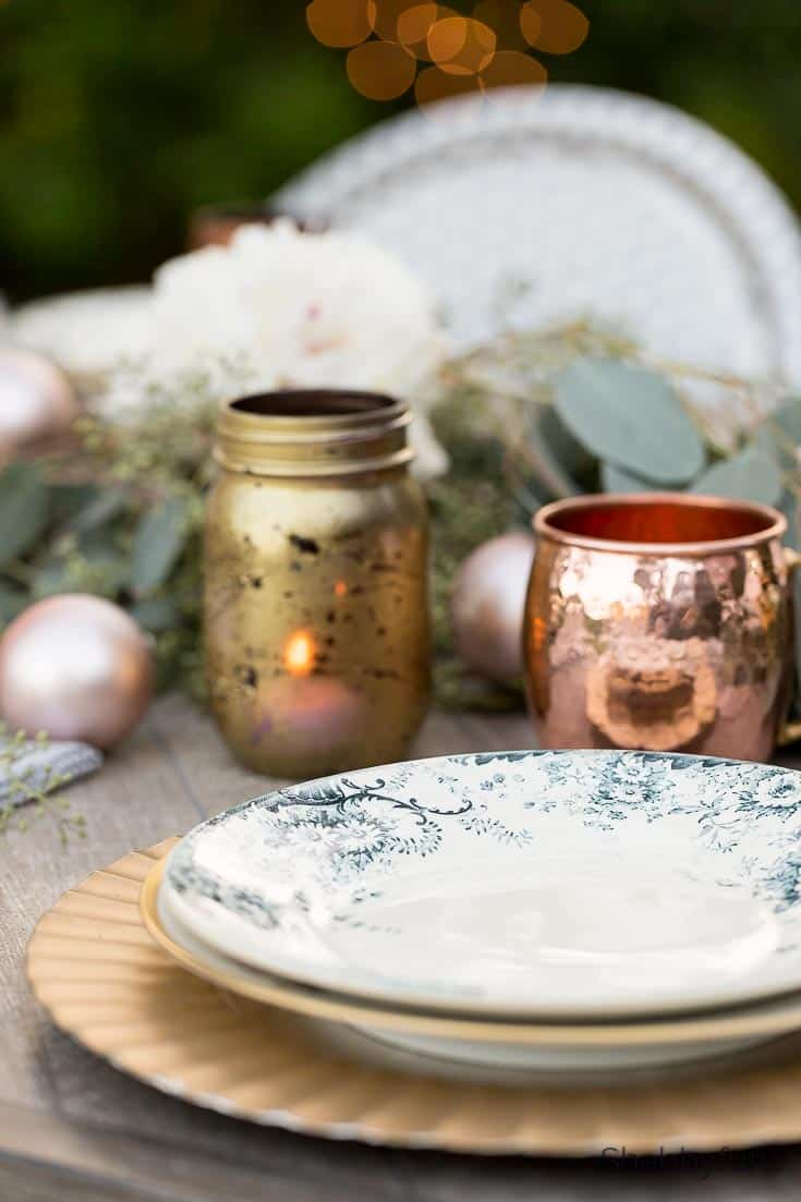 outdoor christmas decorations copper and gold christmas decor