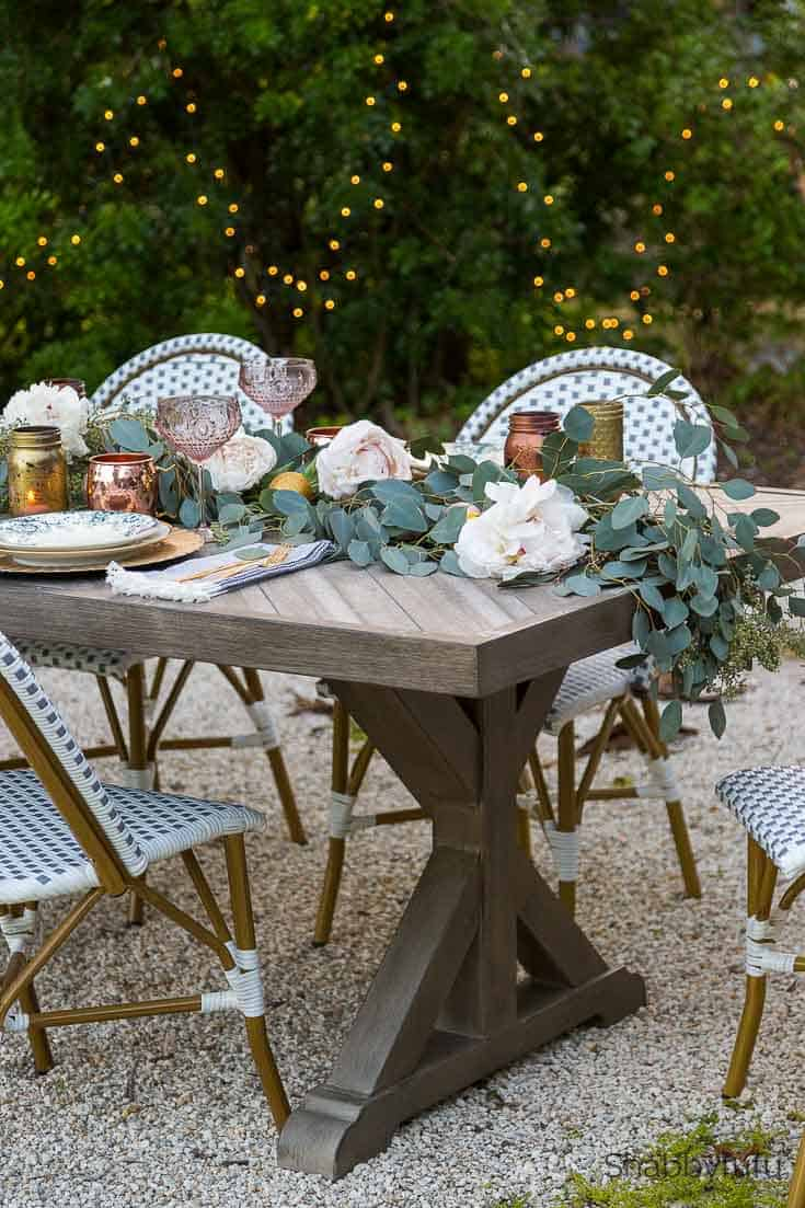 outdoor christmas decorations french country tablescape