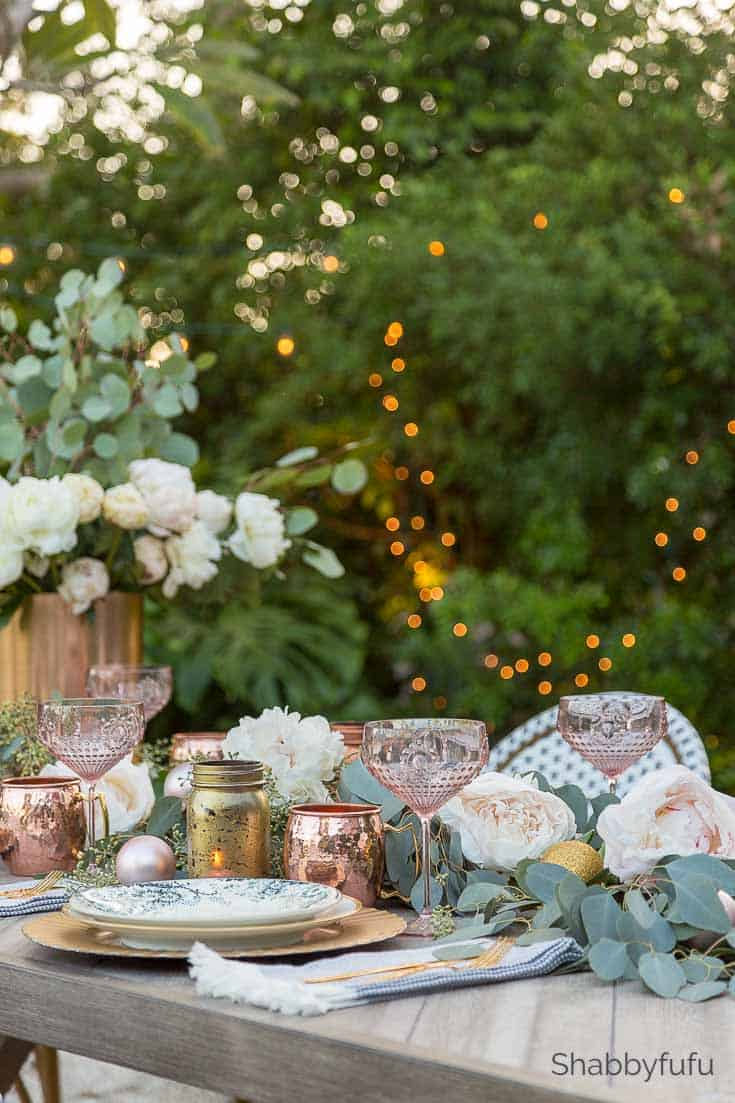 outdoor christmas decorations setting a french tablescape