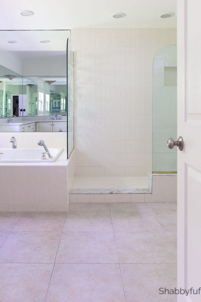 master bathroom remodeling project