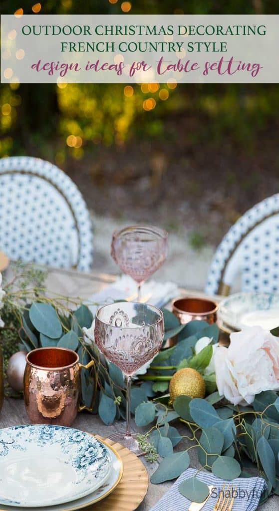 outdoor christmas decorations and dining