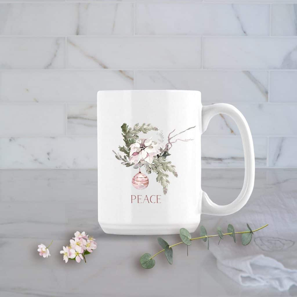 Peace mug posh cottage shop