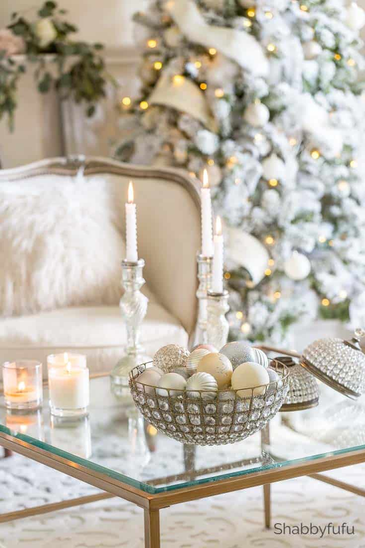 french country Christmas coffee table
