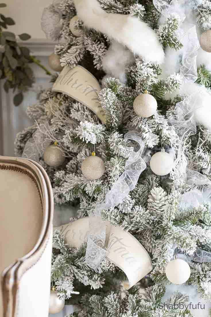 french country christmas flocked tree
