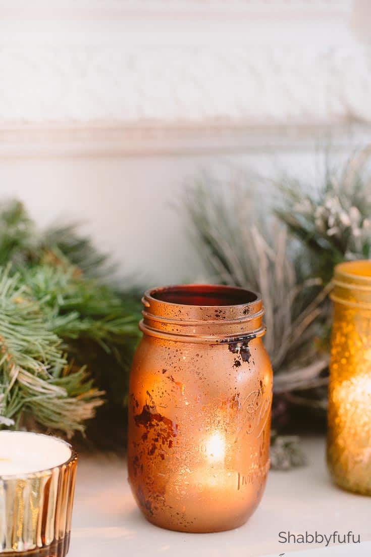 Copper And Gold Mason Jars DIY