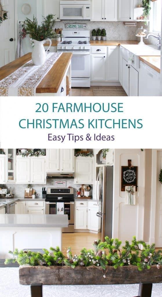 Farmhouse Kitchens Dressed For Christmas Shabbyfufu Com