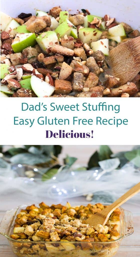 sweet and savory gluten free stuffing recipe