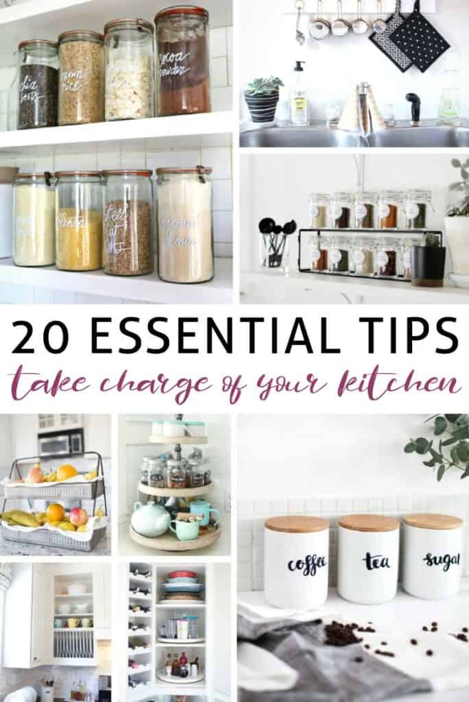 organizing tips for the kitchen