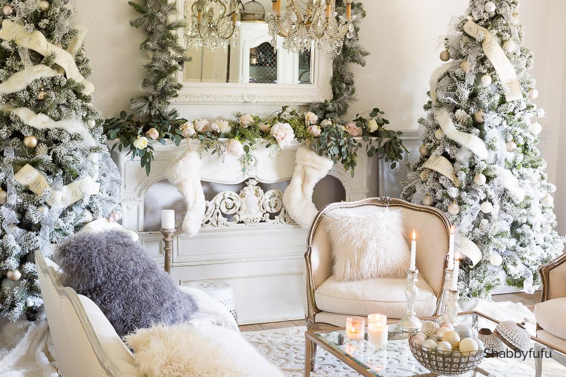 gorgeous white Christmas trees