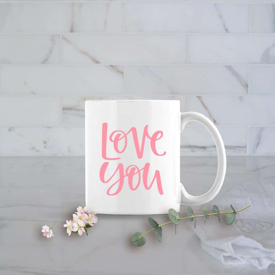 love you coffee mug posh cottage shop #sff225