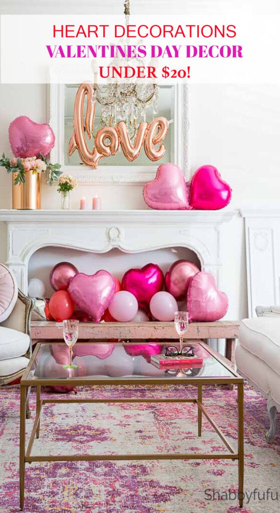 Heart decorations valentines day decor SHABBYFUFU