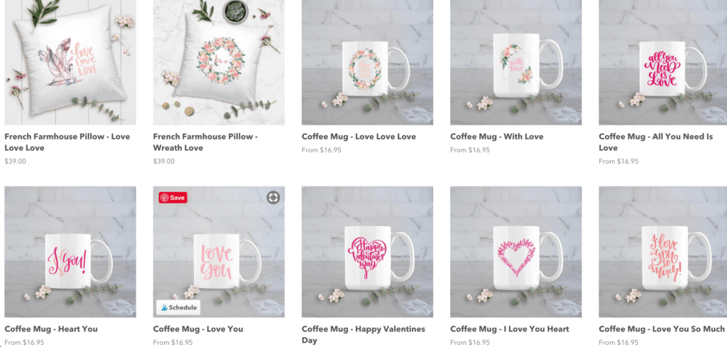 posh cottage shop valentines day collection