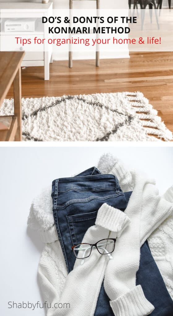 Tips for the KonMari method
