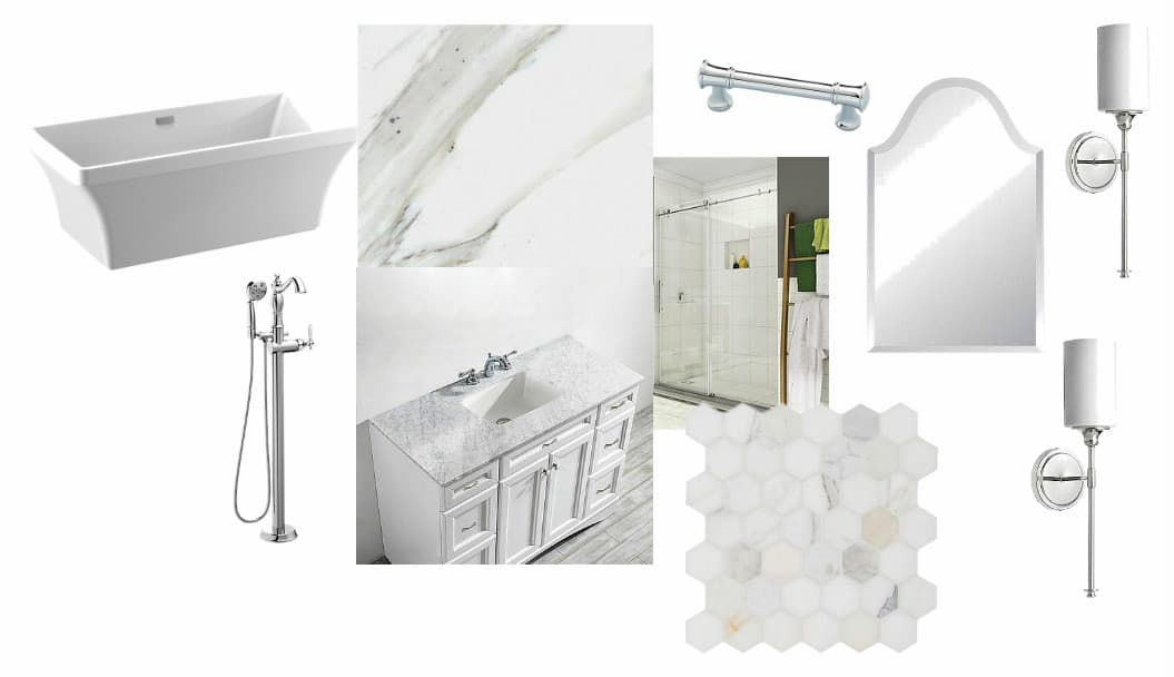 master bathroom makeover shabbyfufu mood board