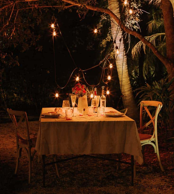 dinner ideas for two al fresco