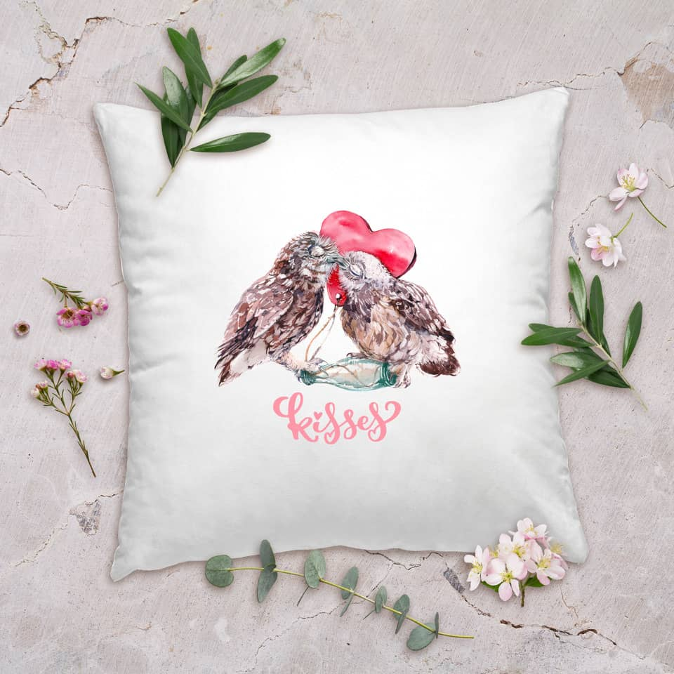valentines day lovebird pillow posh cottage shop sff#225