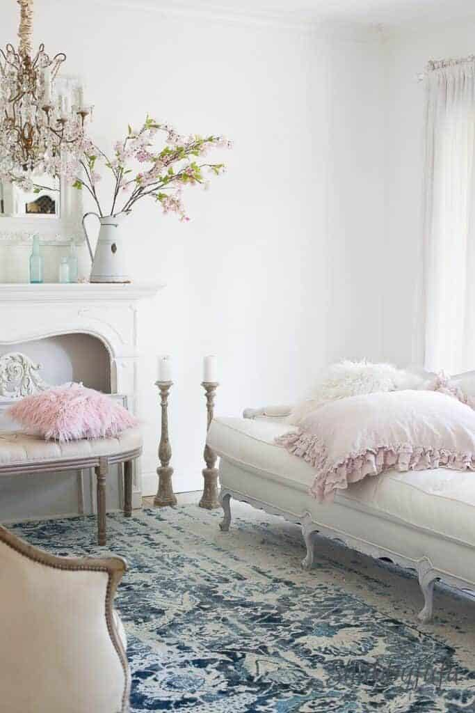 how to decorate room blush pink