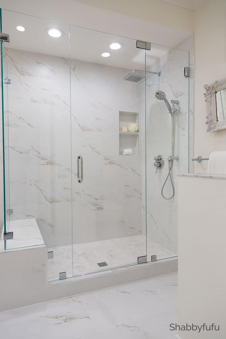 budget bathroom luxury hotel shower look
