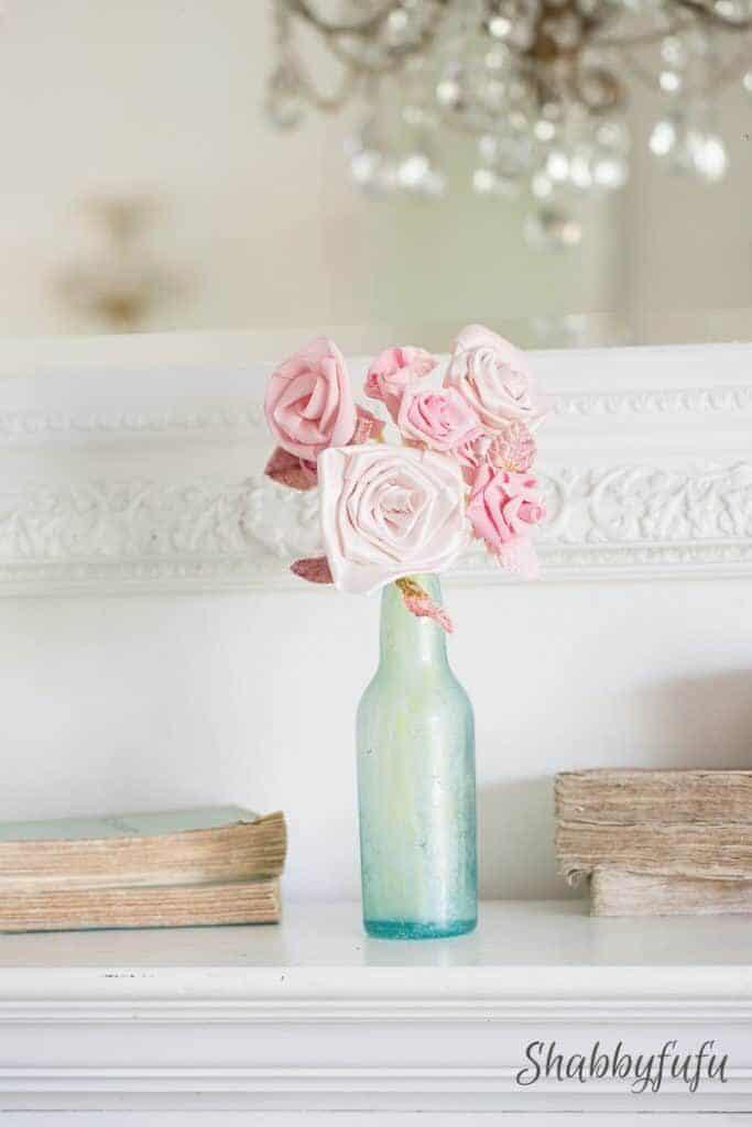 no sew ribbon rose flowers