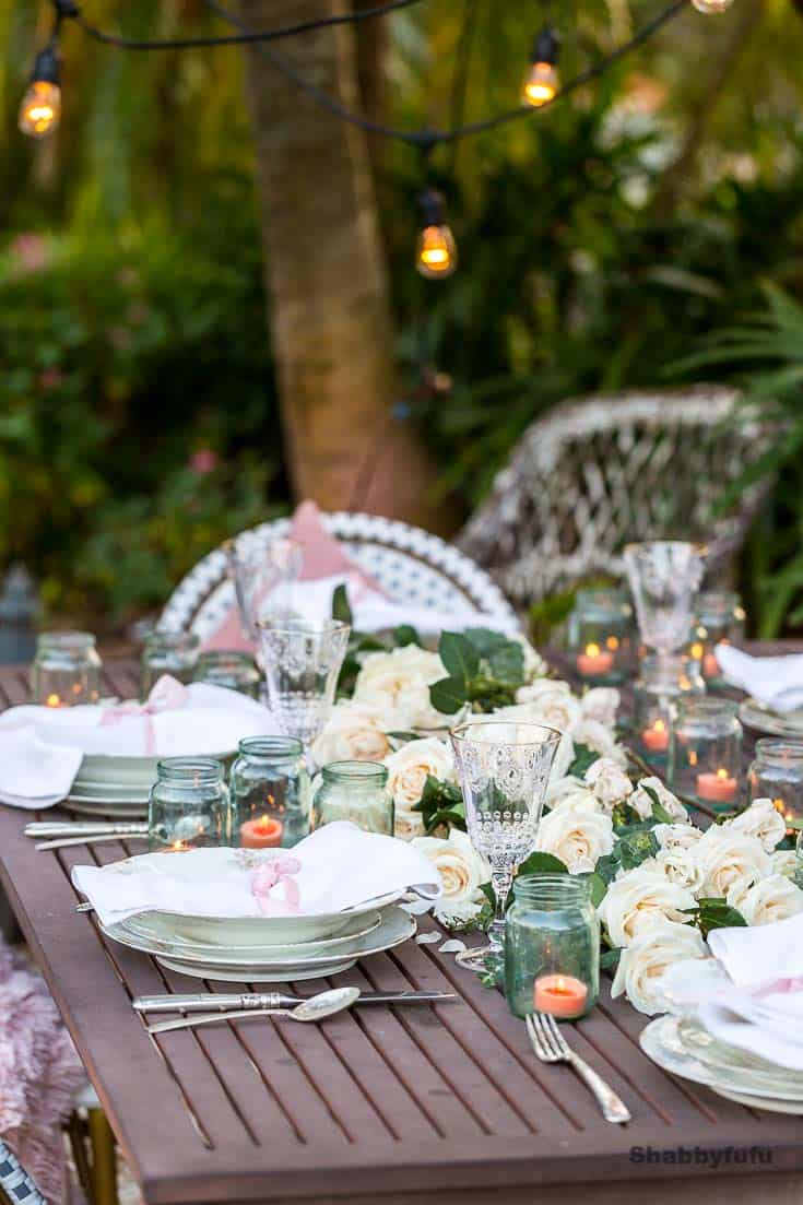 table decorating tips outdoors