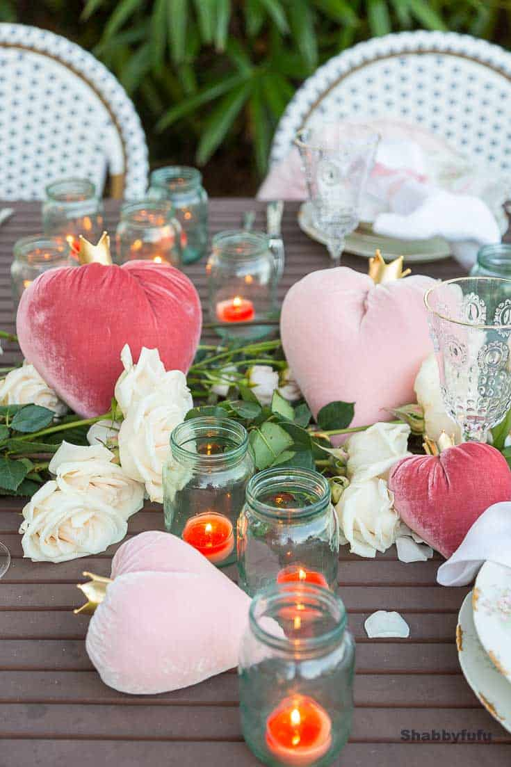 table setting decor outdoor valentines day