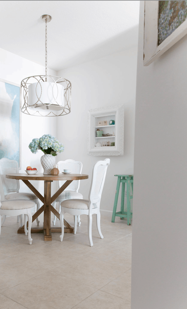 coastal decorating beach house breakfast room