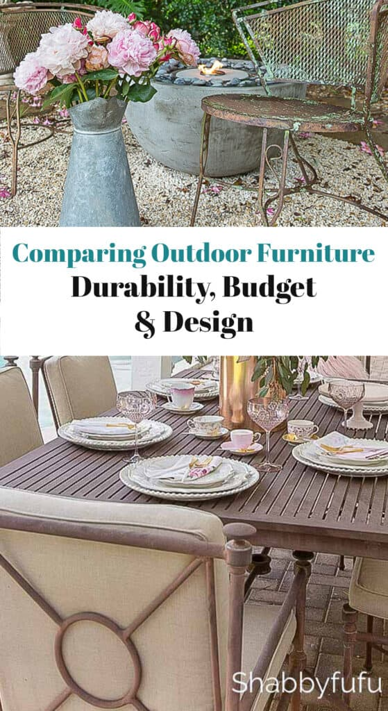 comparing outdoor furniture