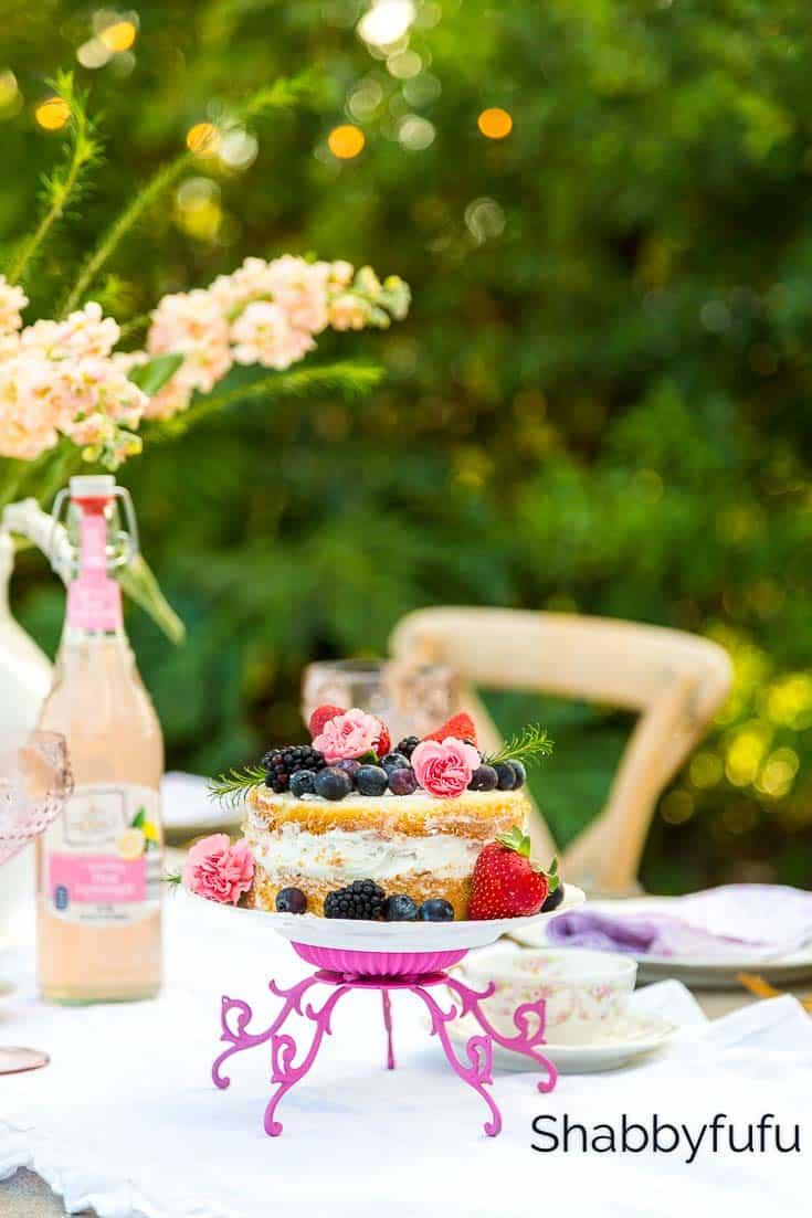 easy diy cake stands weddings parties outdoors
