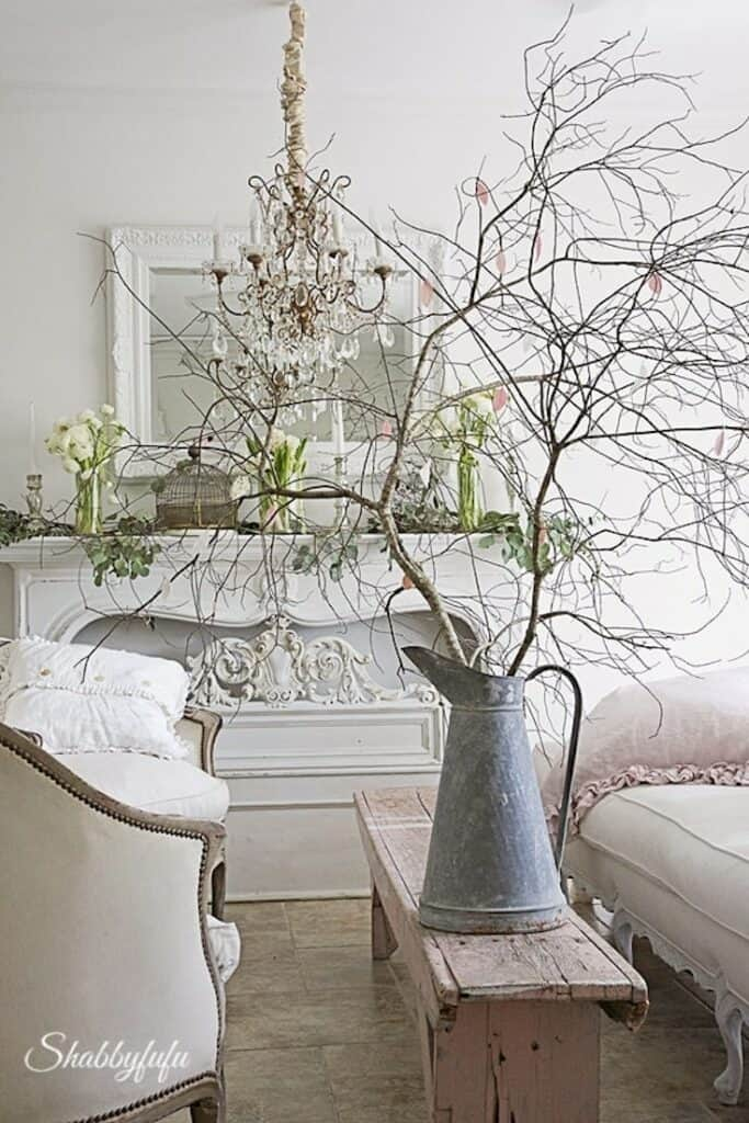 romantic spring craft ideas branches