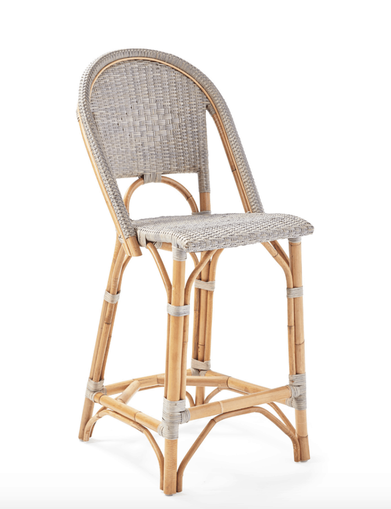 coastal french style counter stool