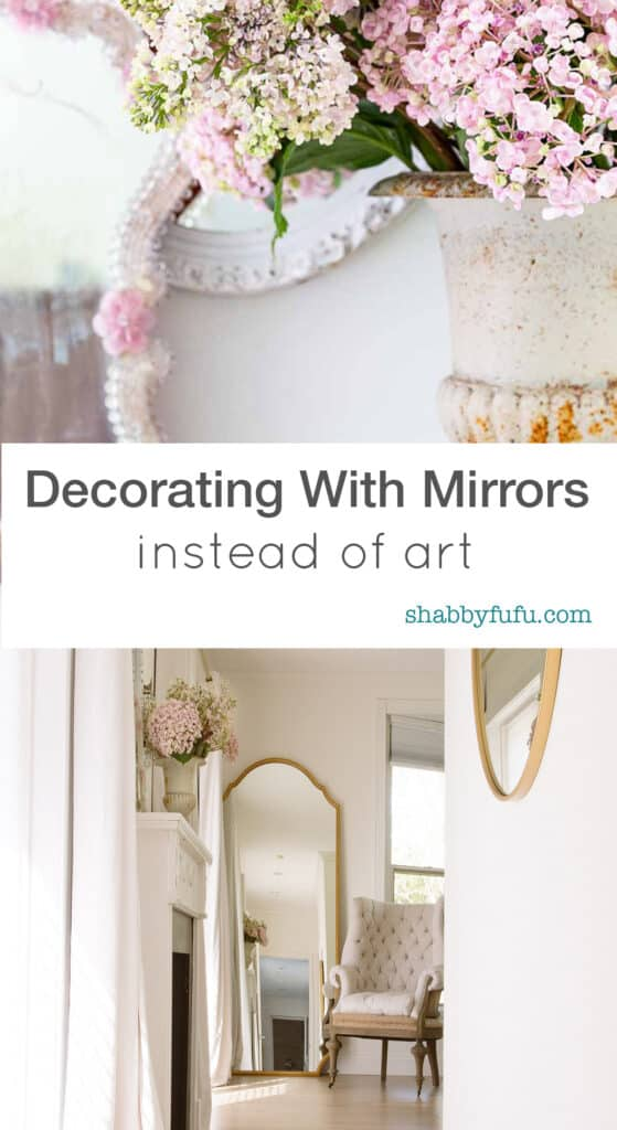 decorate with mirrors instead of art work