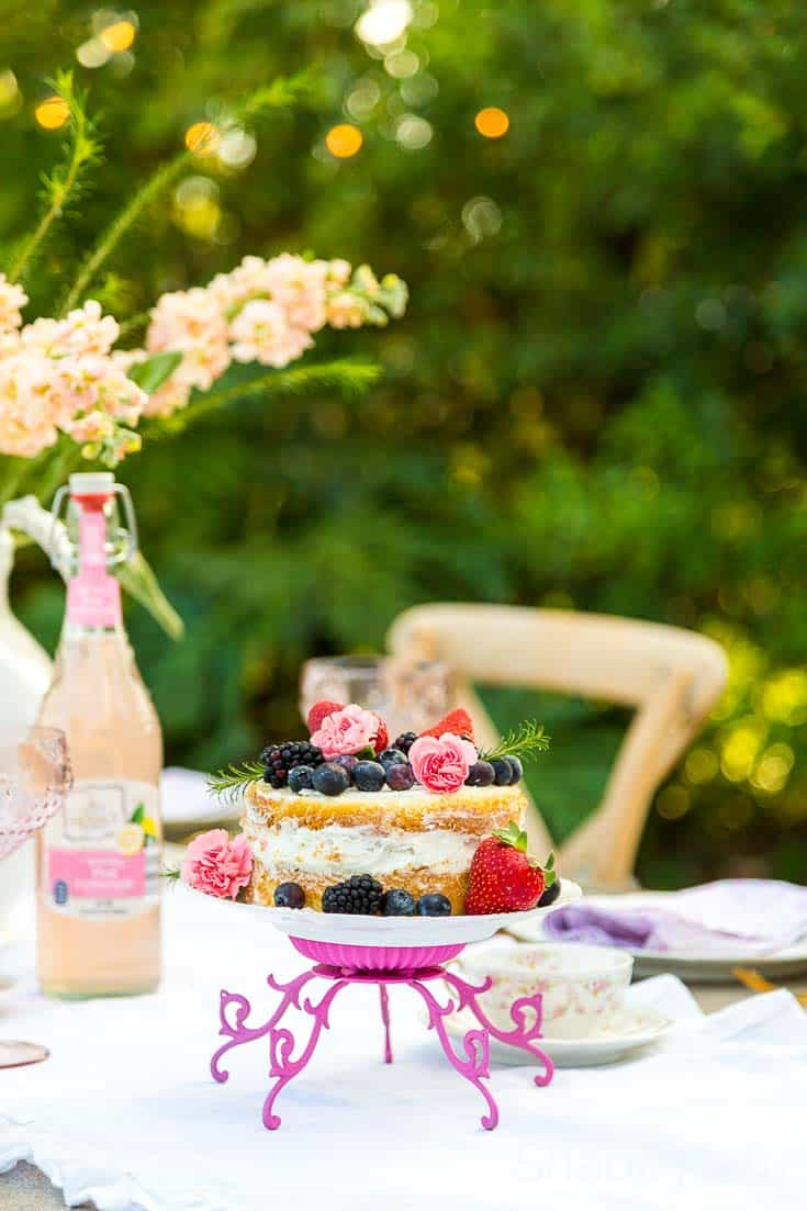 Pinterest worthy spring tablescape ideas naked cake