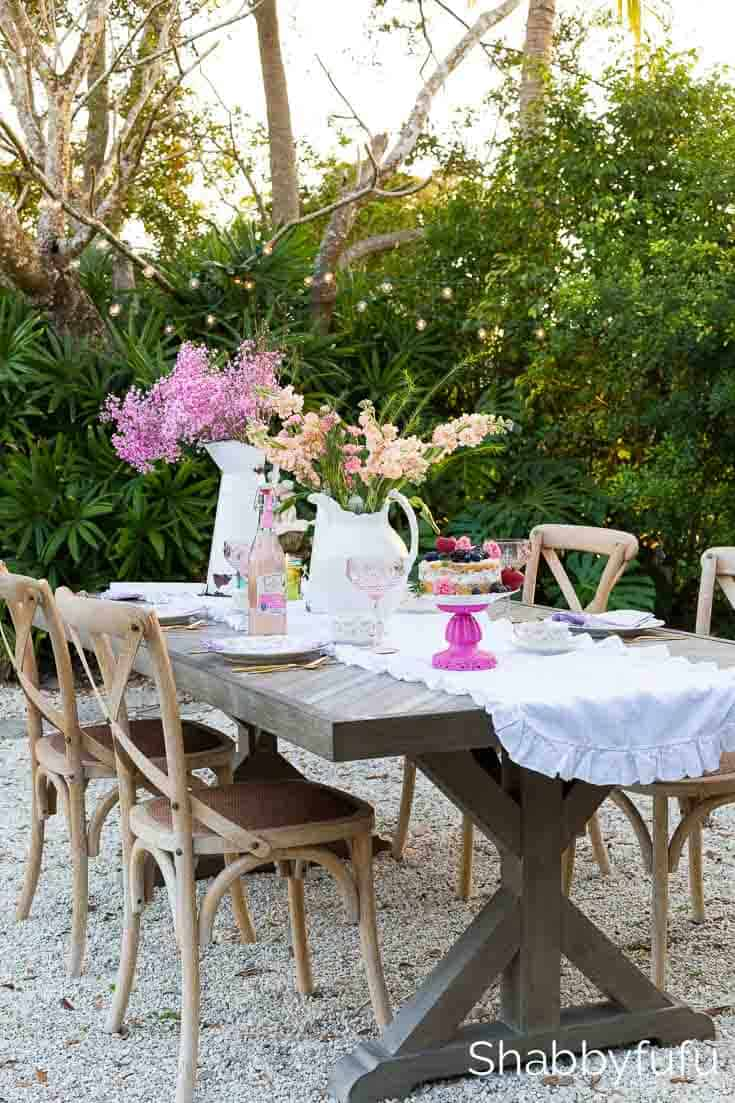french country spring tablescape al fresco